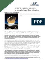 2012 12 Missile Meteorite Impacts Complex Granular