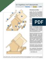 Bauplan Vogelhaus Mit Futterspender