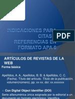 Indicaciones Citas y Referencias Apa