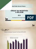 'Unique tax incentives in Belgium'