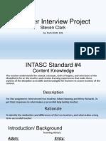 teacher interview project