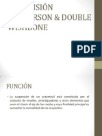 Suspensión Mcpherson & Double Wishbone Ok
