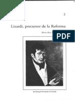 Lizardi, Precursor de la Reforma