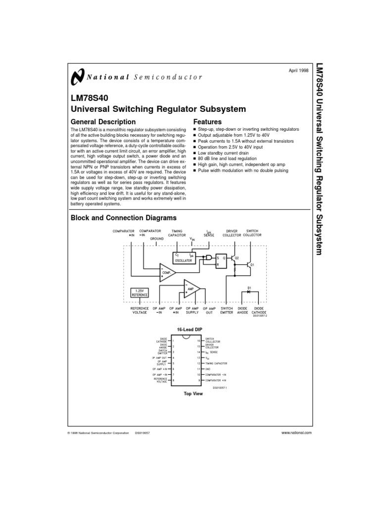 Lm78s40 Data Sheet