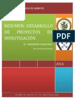 Resumen Desarrollo de Proyectos de Investigacion.