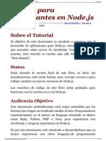 El Libro Para Principiantes en NodeJs