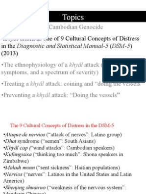 Khyâl Attack as a Cultural Concept in the DSM-V Manual (2013
