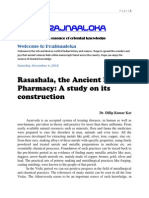 Prajnaaloka-Rasashala, The Ancient Indian Pharmacy--A Study on Its Construction