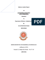 Industry Analysis Report of Automobile Industry (Two