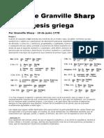 Reglas de Granville Sharp de Exégesis Griega