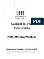 Taller de Pruebas Prof. Valdez