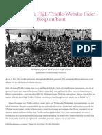 Steve Pavlina - Wie Man Eine High-Traffic-Website (Oder Blog) Aufbaut