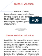 Shares and Their Valuation