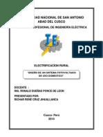 Diseño  de un Sistema Fotovoltaico Domestico