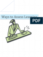 ways to assess learning