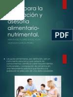 Ficha Para La Orientación y Asesoría Alimentario-nutrimental
