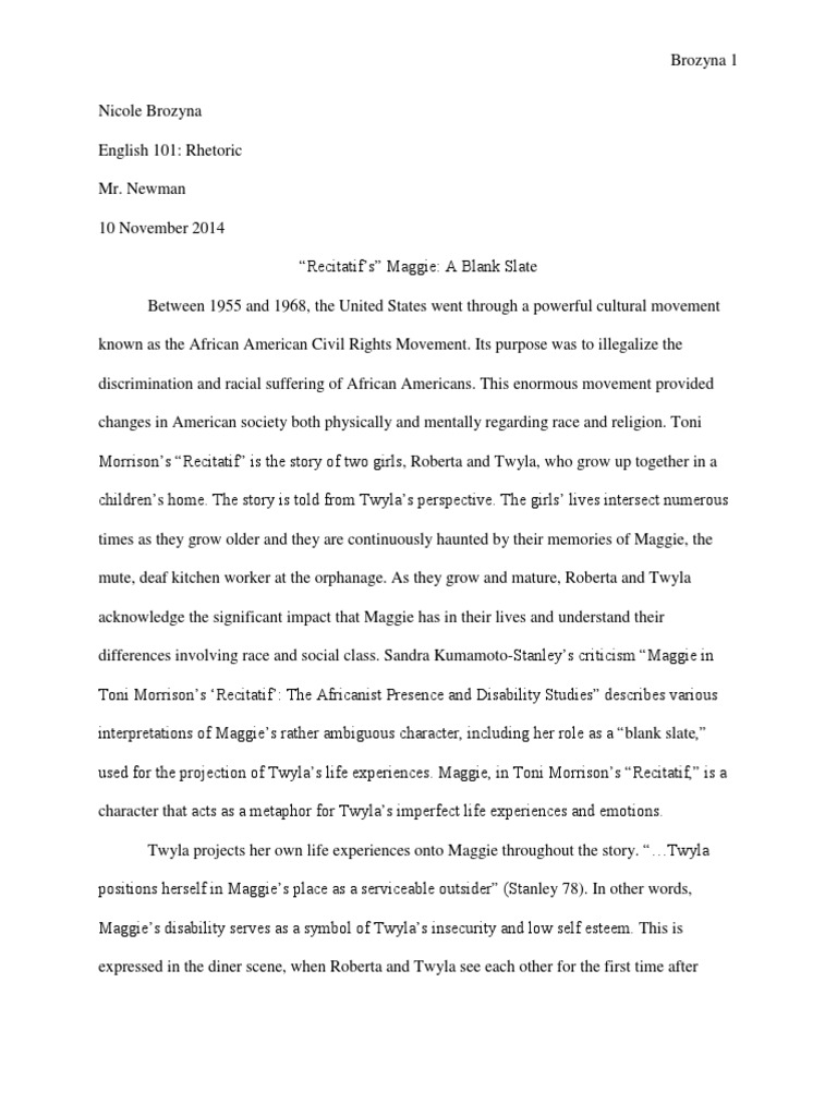 Toni morrison recitatif essay cheap article review writers site gb