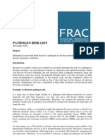 FRAC - Pathogen Risk List