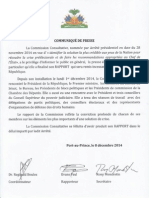 Communique de Presse - Commission Consultative