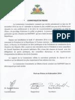 Communique de Presse - Commission Consultative