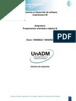 DPO3 Criterios de Evaluacion de Actividades U3