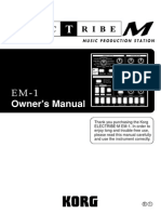 Korg Electribe EM-1 Owners Manual