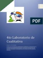 Informe de Laboratorio Nº 4 Quimica Cualitativa