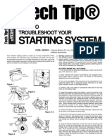 How to Troubleshoot Starting System