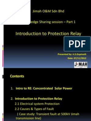 PowerPoint - Introduction to Protection Relay | Relay