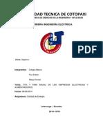 Tema TTIK Y FMIK ANUAL DE LAS EMPRESAS ELECTRICAS Y ALIMENTADORES. (Crespo Marco, Faz Edwin, Mejía Daniel.docx