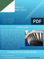 Slurry Erosion of Hydro Turbine Steels