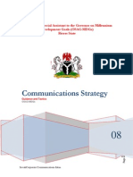 Communications Strategy for implementation of Millennium Development Goals(MDGs) in Nigeria