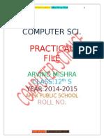 Practical File Arvind Mishra