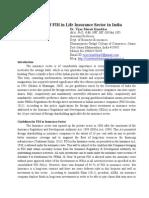 FDI in Life Insurance - Dr. Vijay Kumbhar