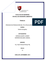 Proceso de Producción Del Pvc