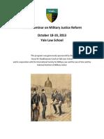 Global Seminar on Military Justice Reform 2013 Report Full