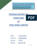 Report on Tehri Dam PDF