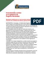 com0991 091206 Inversionistas confían en el gobierno de Eugenio Hernández