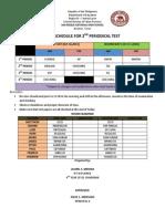 Test Schedule 2014