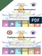 Certificate Municipal Meet