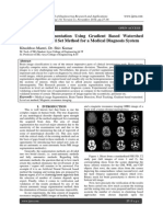 MRI Image Segmentation Using Gradient Based Watershed Transform In Level Set Method for a Medical Diagnosis System