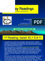 Liturgical Bible Study - 2nd Sunday Advent B