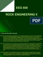 Rock and Rock Mass Strength