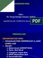 Kedaruratan Paru (Dr. Yusup Subagio S, SpP)