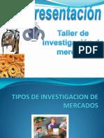 Tipos de Investigacion de Mercado
