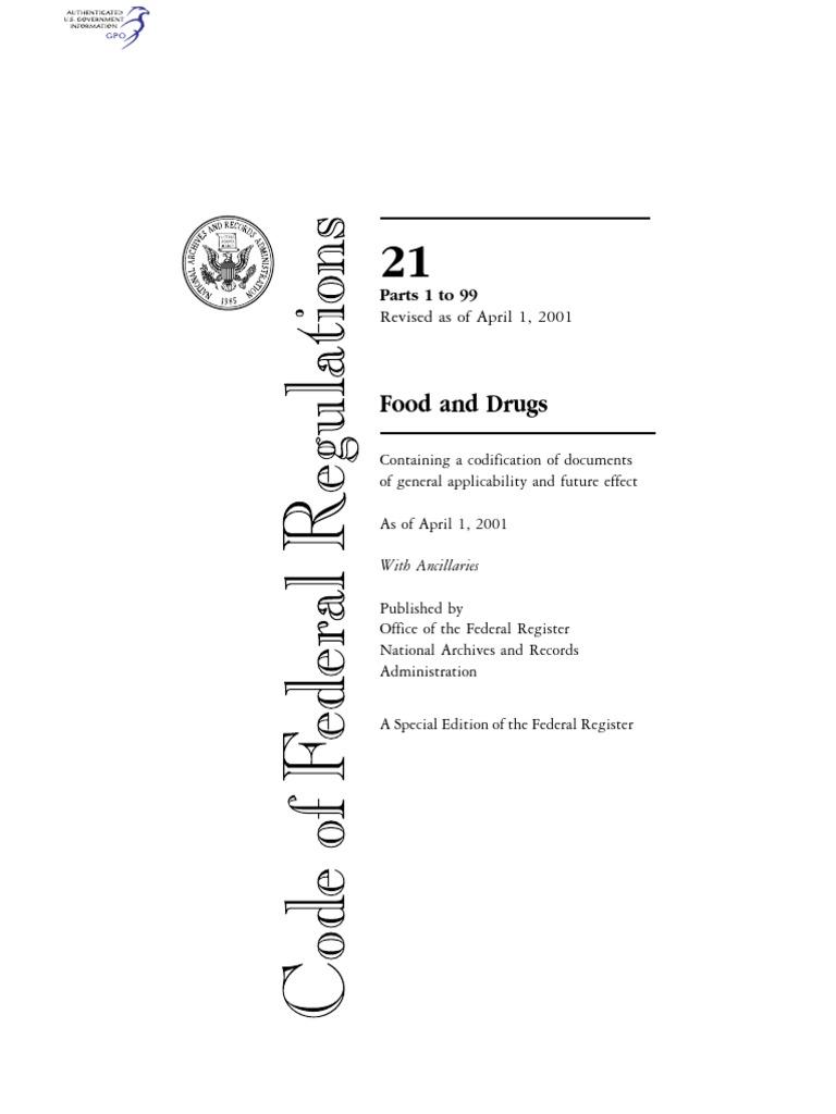 Cfr 2001 title21 vol1 fdapdf united states code cream fandeluxe Choice Image