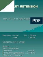 Urinary Retension