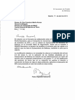 Carta de Secretario de Defensa