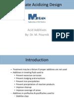 6. Acid Additives (60 Min)