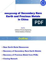 Recycling of Secondary Rear Earth Metal